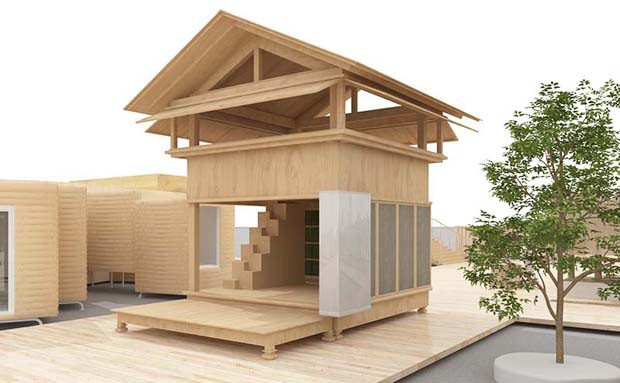 4. Tanada Terrace Office: por Atelier Bow-Wow x MUJI