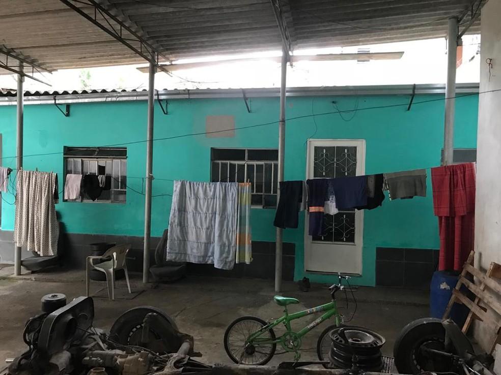 Casa onde o casal morava em Barra Mansa — Foto: Raquel Ribeiro/TV Rio Sul
