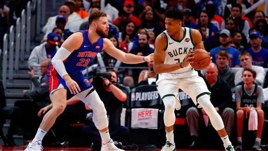 Giannis faz 41 pontos nos Pistons, e Bucks conseguem sua primeira varrida de playoff em 36 anos