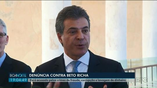Beto Richa é acusado pelos crimes de fraude, corrupção e lavagem de dinheiro