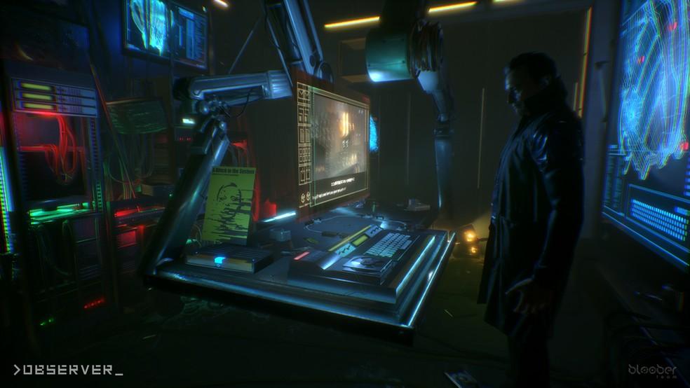 Observer combina terror e ficção científica oferecendo um gameplay tenso e cheio de surpresas. — Foto: Divulgação/Bloober Team