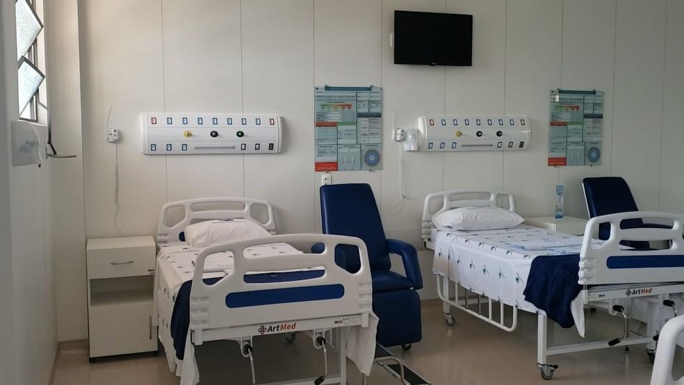 Leitos no Hospital da baleia, em BH — Foto: Divulgação/TV Globo