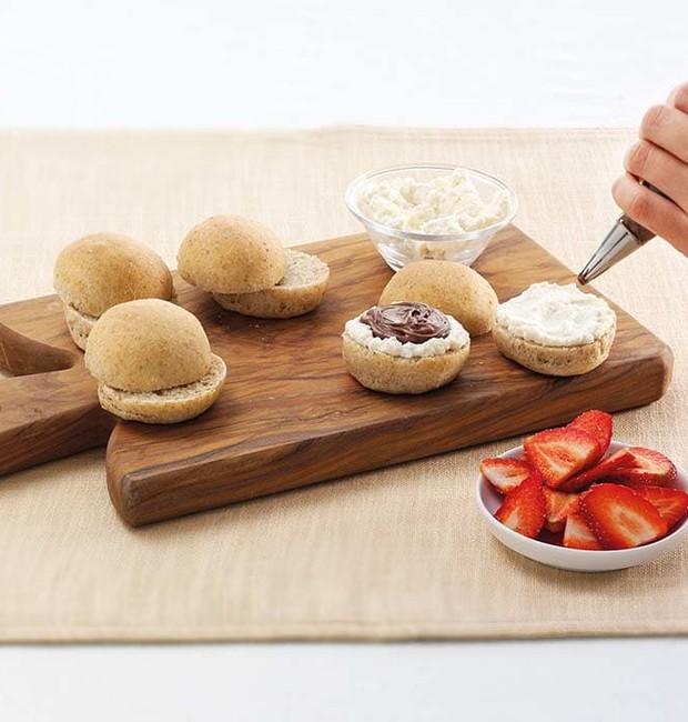 Sanduíche de morango e nutella (Foto: Divulgação)