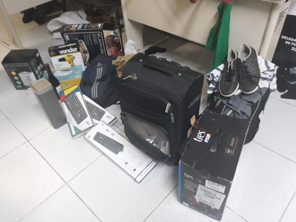 Material foi apreendido com suspeitos de roubas cofres no Rio Grande do Norte (Foto: Divulgação/Polícia Civil)