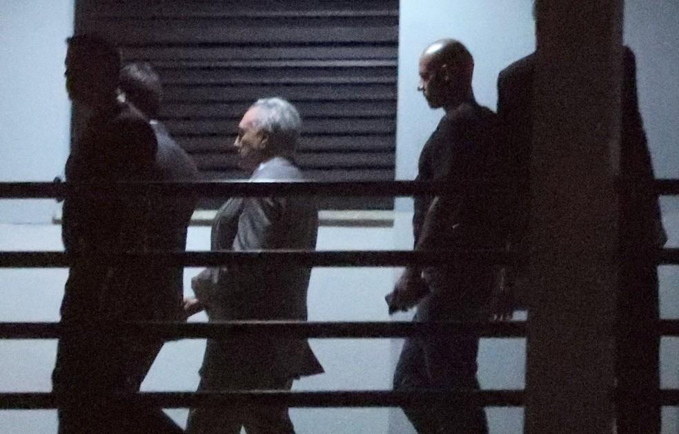 Temer chega à sede da Polícia Federal no Rio — Foto: REUTERS/Ricardo Moraes