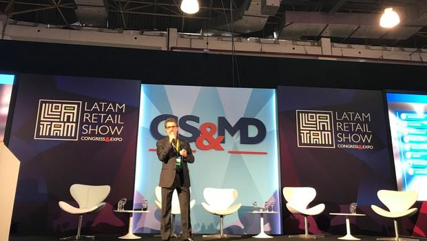 Marcelo Bazzali, diretor executivo do Extra, durante o o LATAM Retail Show, em São Paulo (SP).  (Foto: Divulgação)