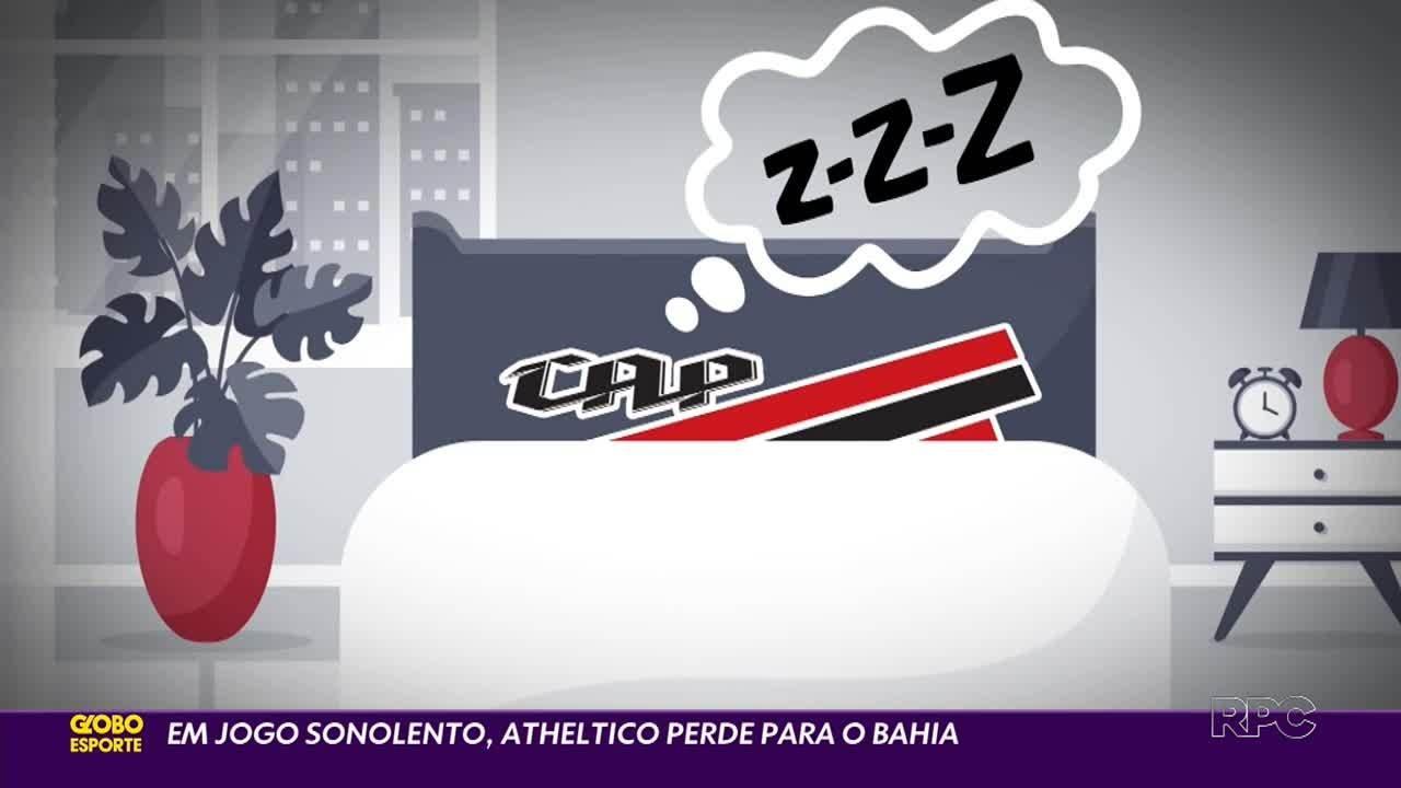 Em jogo sonolento, Athletico perde para Bahia e dá adeus às chances de Libertadores