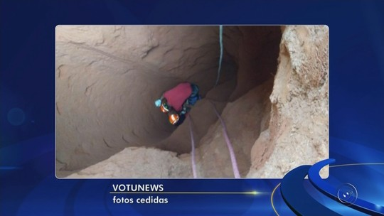 Estrutura de cimento cede e idoso cai em poço de 7 metros de profundidade em sítio