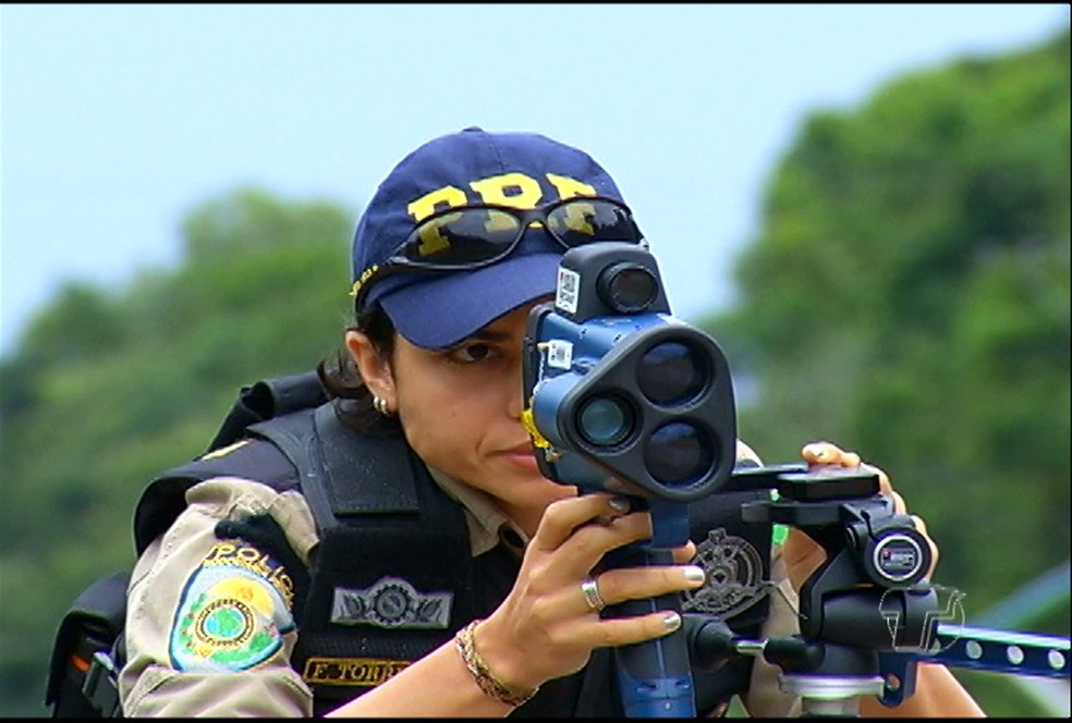 Fiscalização com radar móvel — Foto: Reprodução/TV Tapajós