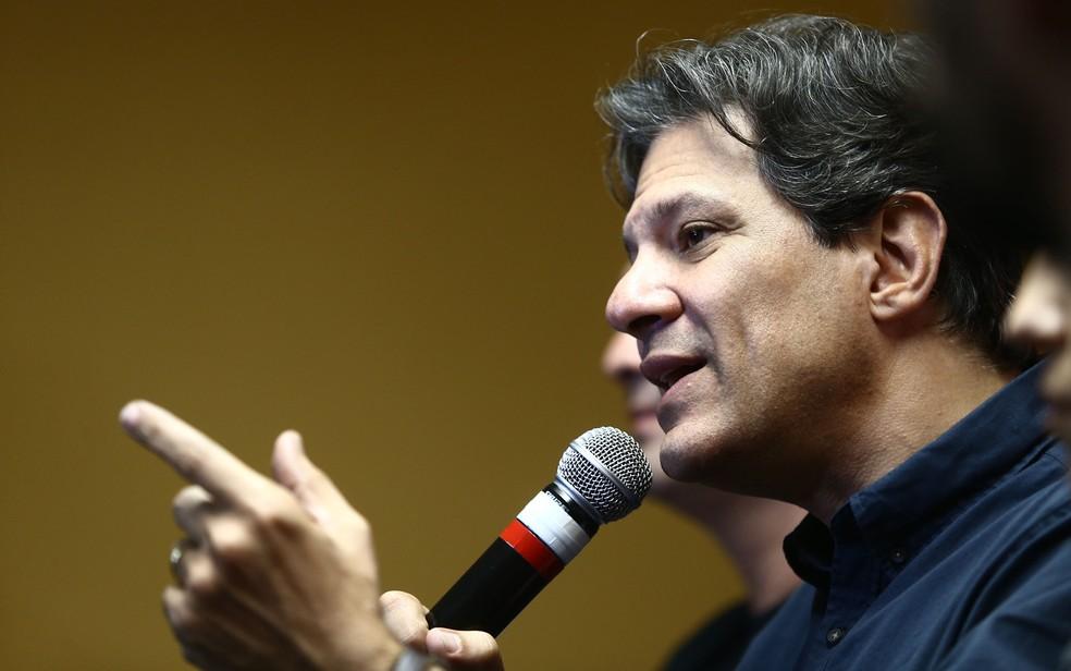 O candidato a vice-presidente pelo PT, Fernando Haddad (Foto: Fábio Motta/Estadão Conteúdo)
