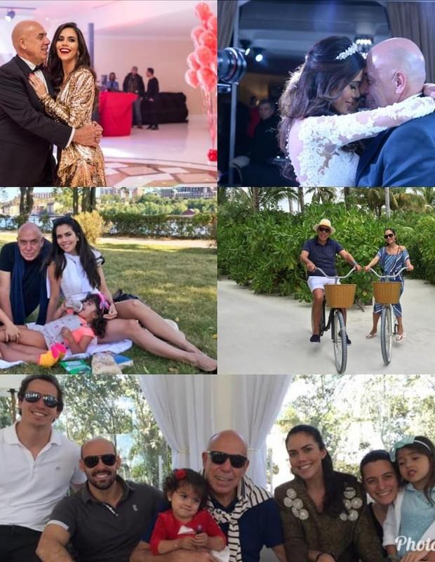 Daniela Albuquerque celebra 14 anos que conheceu o marido, Amilcare Dallevo com fotos em família (Foto: Reprodução Instagram)