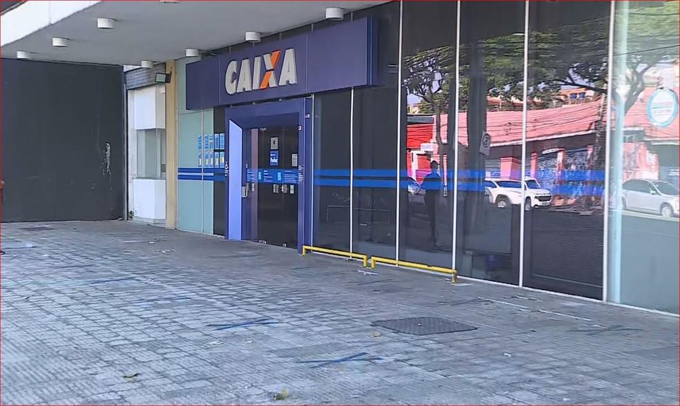 Caixa Econômica Federal no bairro Bonfim, na Região Noroeste de Belo Horizonte — Foto: Reprodução/TV Globo