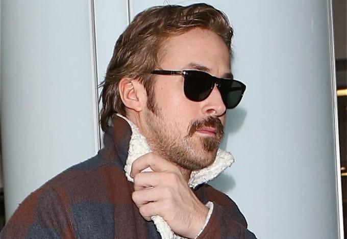Ryan Gosling e seu bigode (Foto: Reprodução/Twitter)