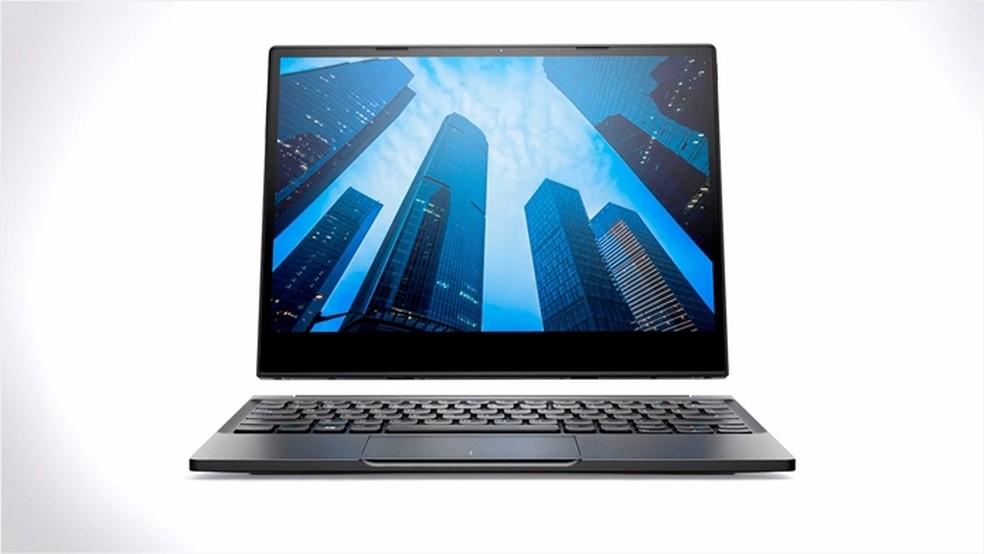 Latitude 12 7285 2 em 1 permite que a tela seja destacada do teclado no modo tablet — Foto: Divulgação/Dell