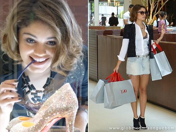 It-girl que se preze não dispensa uma boa compra e antecipa as tendências (Foto: Sangue Bom/TV Globo)