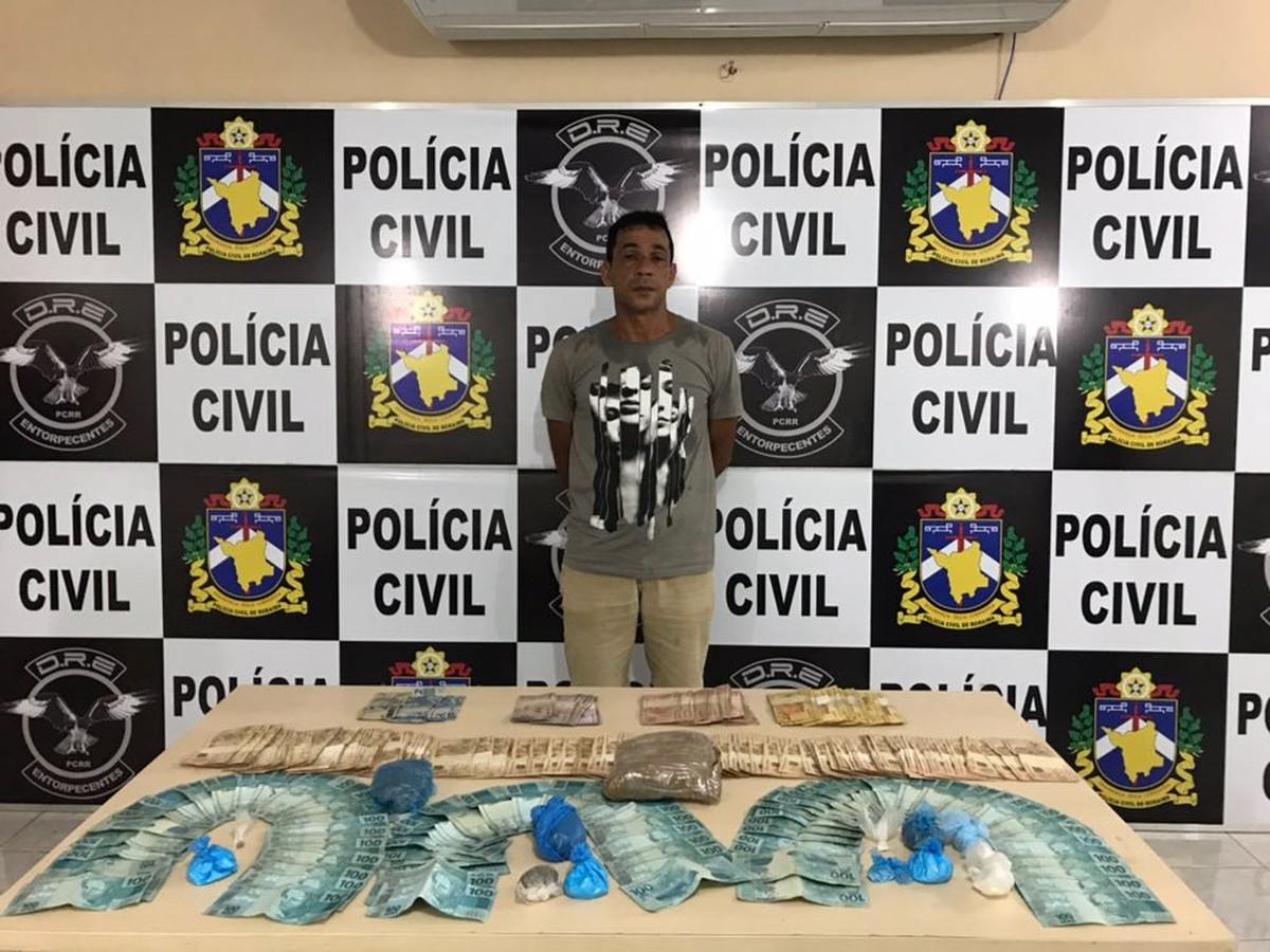 Agentes prendem suspeito de tráfico em RR com mais de R$ 20 mil em residência