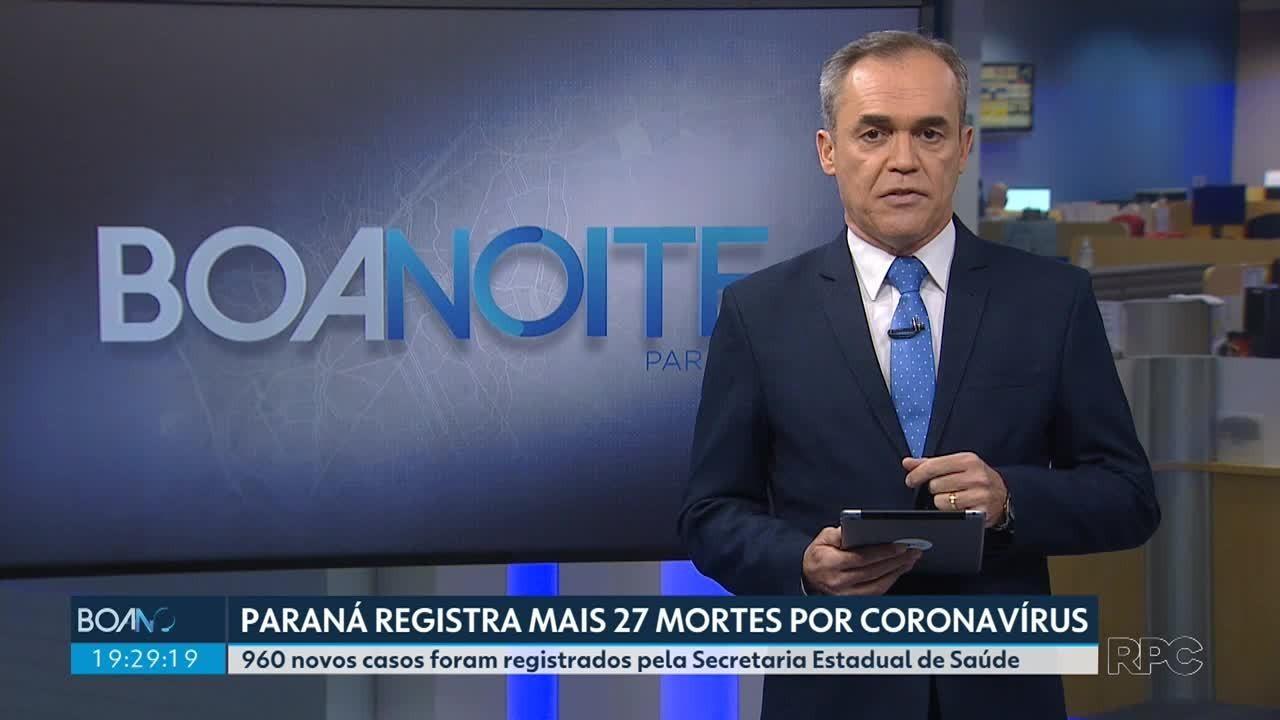 Paraná registra mais 27 mortes por coronavírus