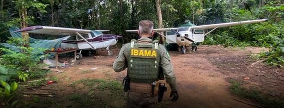 Operação do Ibama contra garimpo ilegal na Terra Yanomami — Foto: Ibama/Divulgação