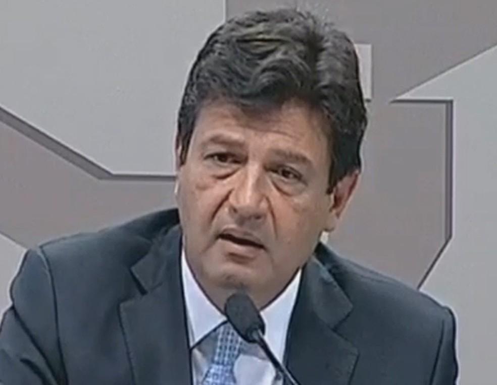 Luiz Henrique Mandetta — Foto: Reprodução / TV Senado