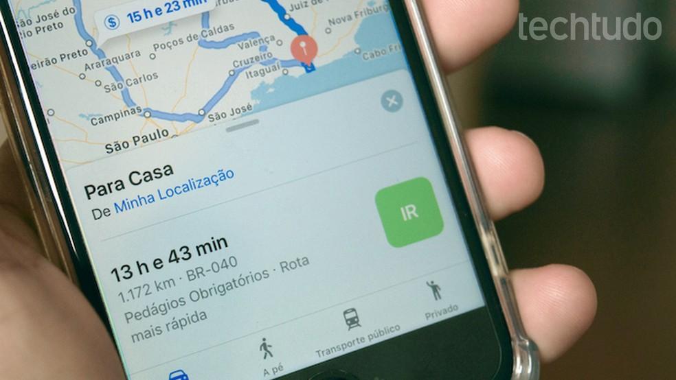70cfa94713698 ... Tutorial mostra como consultar pontos de ônibus em uma cidade usando o Apple  Maps — Foto