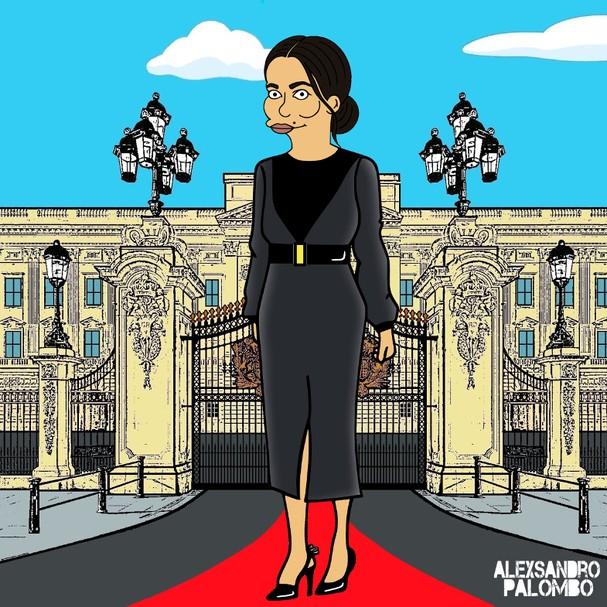 Meghan Markle vira personagem dos Simpsons  (Foto: Divulgação)