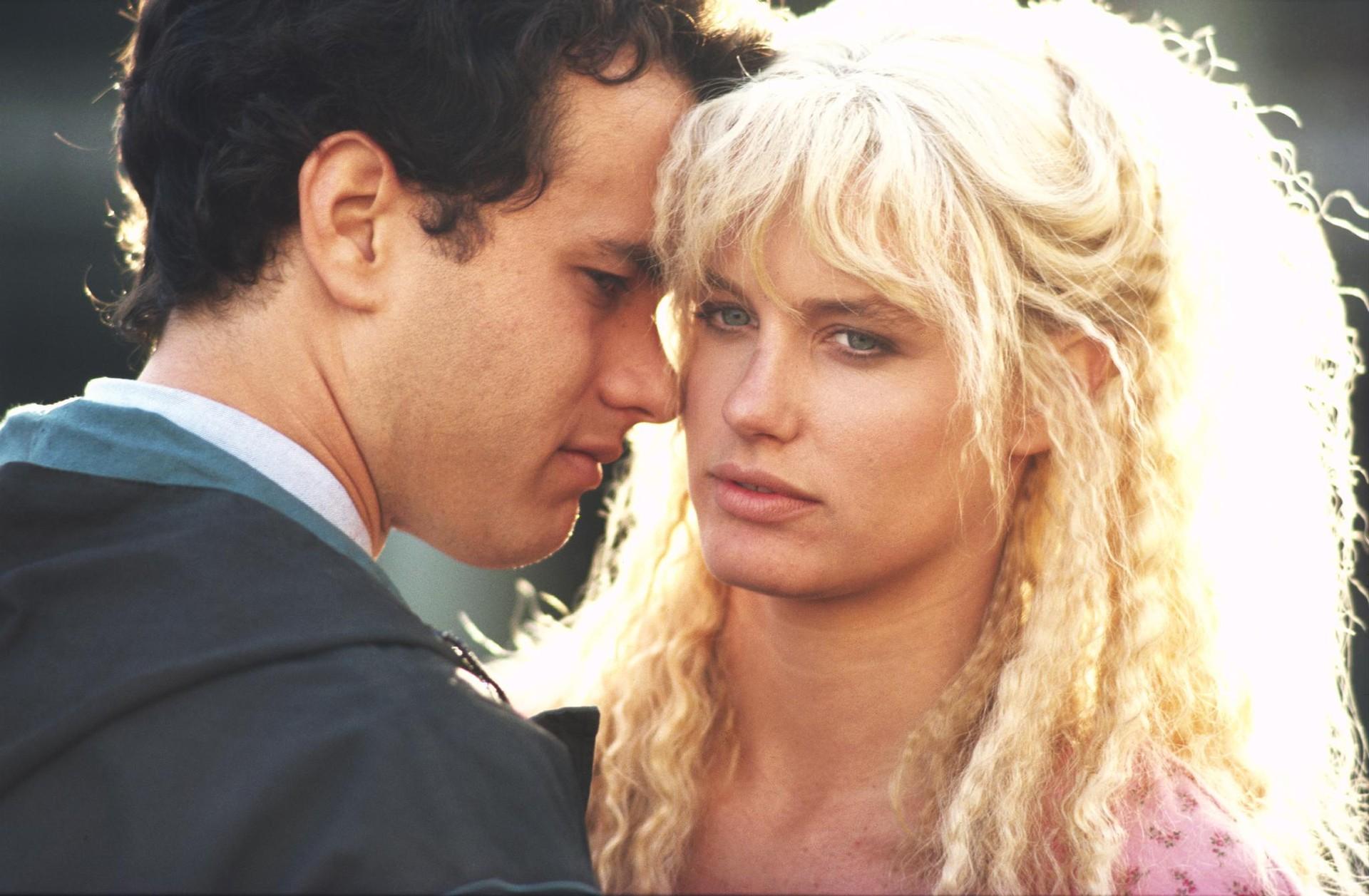SPLASH: UMA SEREIA EM MINHA VIDA: Tom Hanks, hoje com um monte de Oscars e dólares, já deu rolê com uma sereia. E a sereia era Daryl Hannah. (Foto: Divulgação)