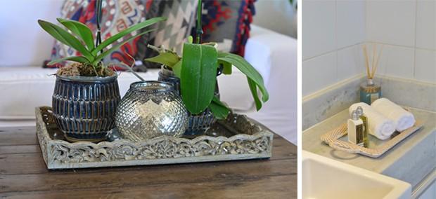 Bandejas da Camicado servem de centro de mesa no living ou de suporte para toalhas no lavabo (Foto: Divulgação)
