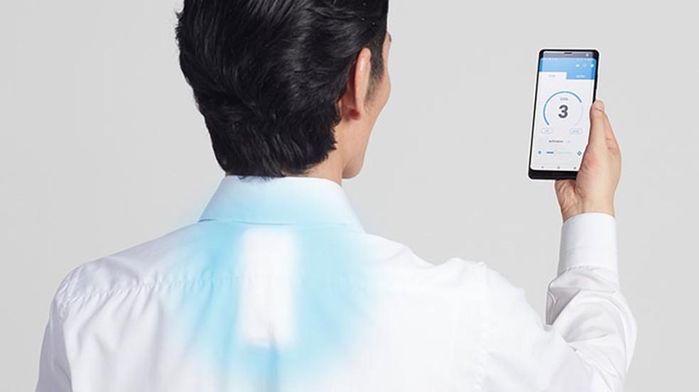 Ar-condicionado Reon Pocket da Sony esfria corpo em até 13°C — Foto: Divulgação/Sony