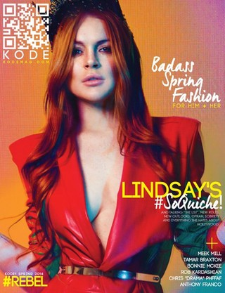 Lindsay Lohan na capa da revista Kode (Foto: Reprodução / Kode Magazine)