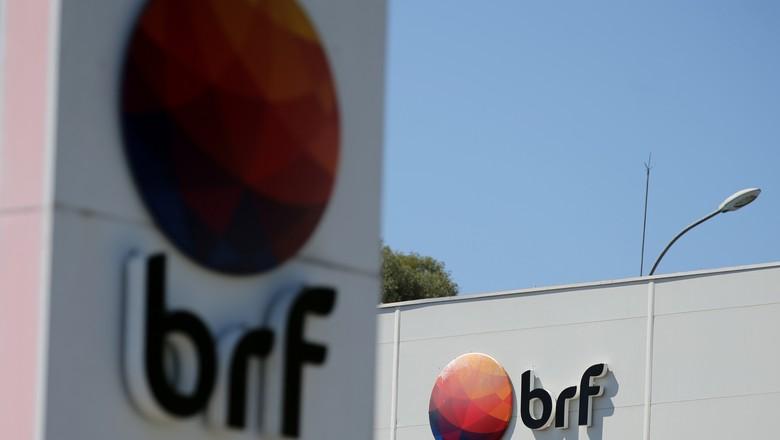 Logo da BRF fotografado na sede da empresa em Curitiba (Foto: REUTERS/Rodolfo Buhrer)