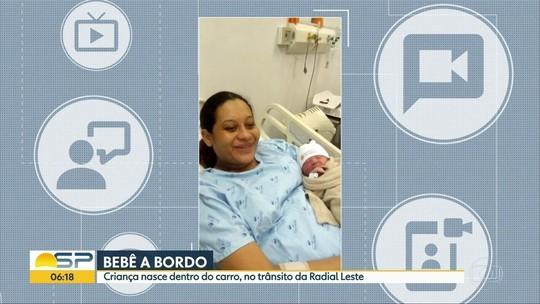 Bebê nasce no meio do trânsito de via movimento na Zona Leste de SP