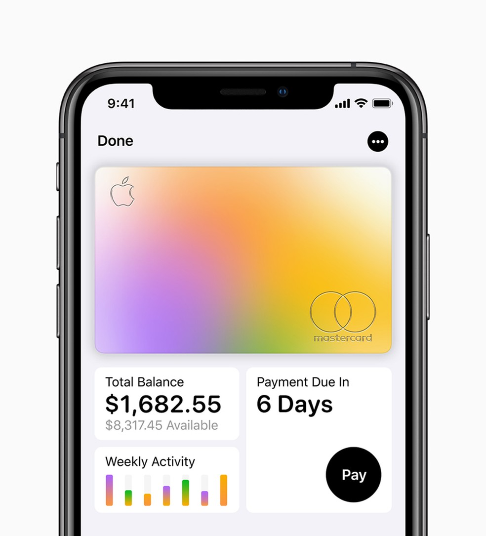 Cartão de crédito da Apple tem parceria com MasterCard e Goldman Sachs e promete melhorar a educação financeira do usuário. — Foto: Divulgação/Apple