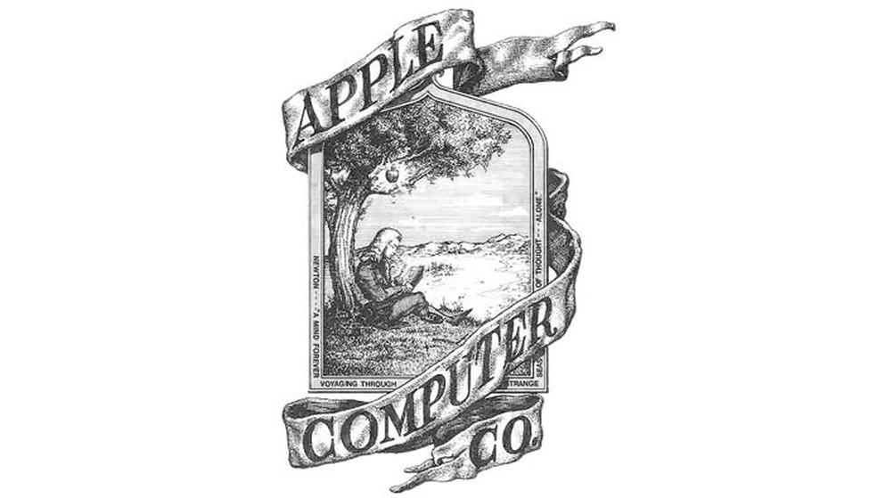 Primeiro logo da Apple tinha a imagem do cientista Isaac Newton (Foto   Reprodução  f2503673b6