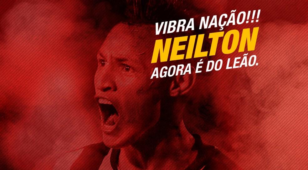 8a9149860b ... Neilton vai reforçar o Vitória — Foto  EC Vitória   Divulgação