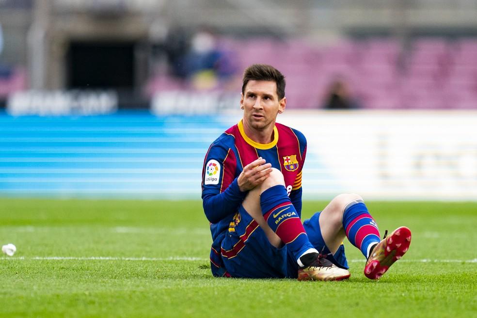Messi pode fazer seu último jogo oficial pelo Barcelona neste sábado — Foto: Getty Images