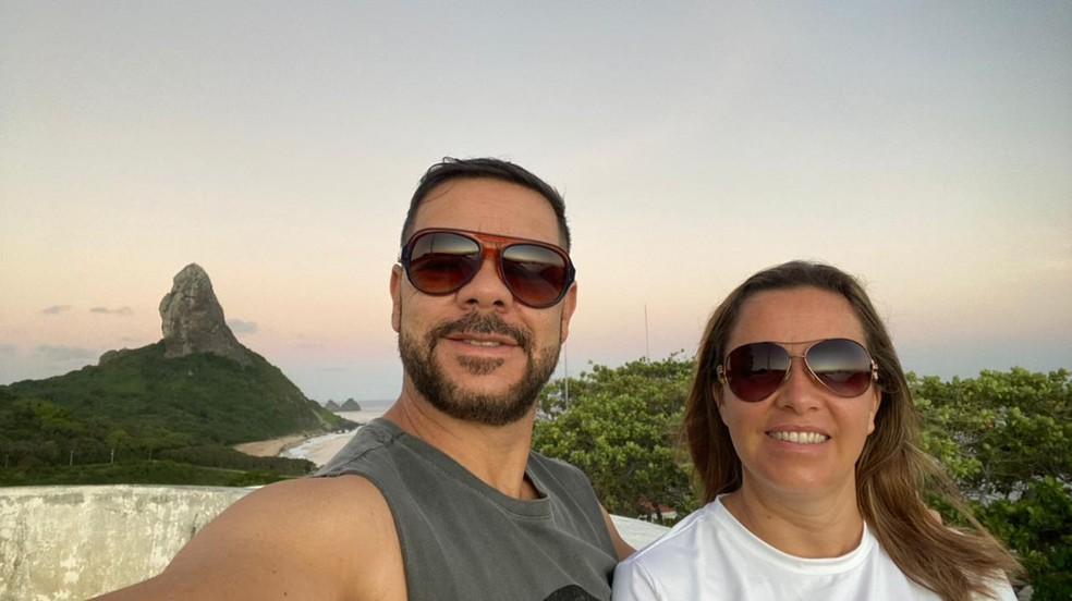 Casal comemorava 30 anos de casado em Noronha (PE) antes de José Edvaldo morrer em um mergulho — Foto: Arquivo pessoal