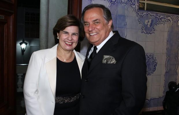 Ronnie Von e a mulher, Maria Cristina Rangel (Foto: Thiago Duran/AgNews)