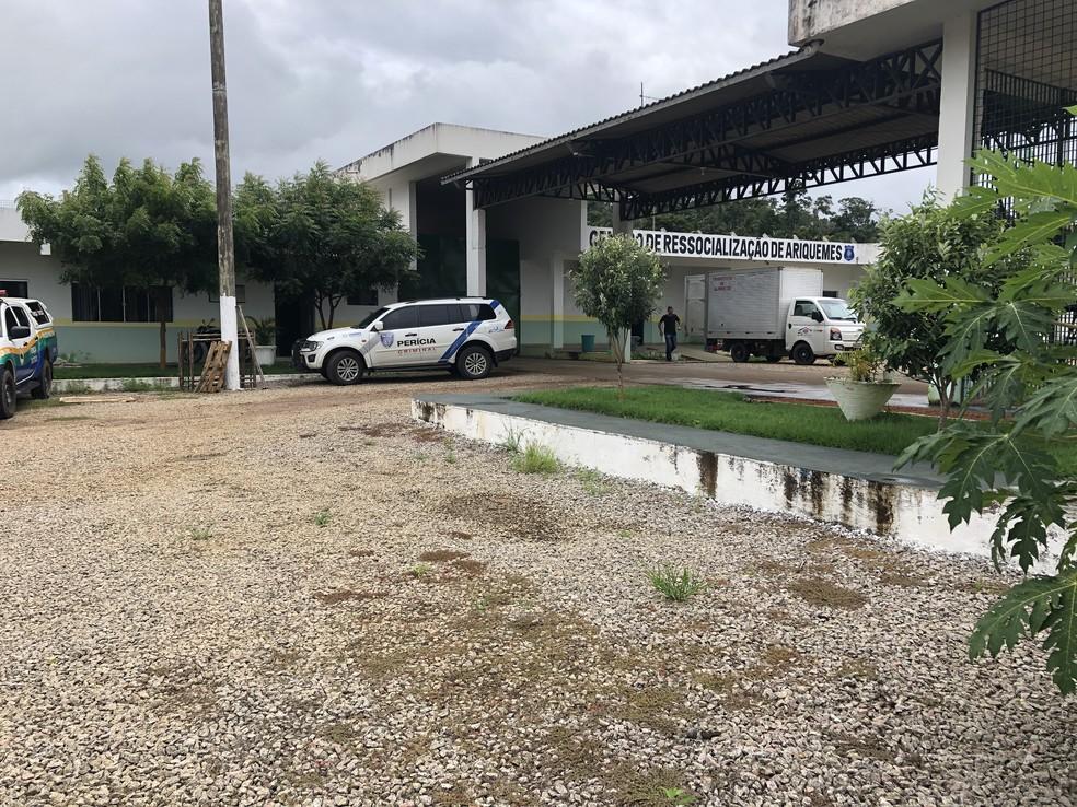Crime ocorreu na cela 20 do Centro de Ressocialização de Ariquemes — Foto: Jeferson Carlos/G1