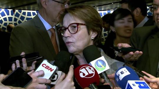 Tereza Cristina: países podem ajudar, mas não podem interferir na soberania do Brasil