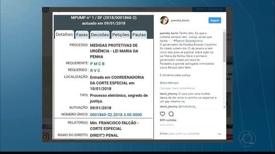 Ex-primeira-dama da PB Pâmela Bório aciona Ricardo Coutinho na Justiça com base na Lei Maria da Penha
