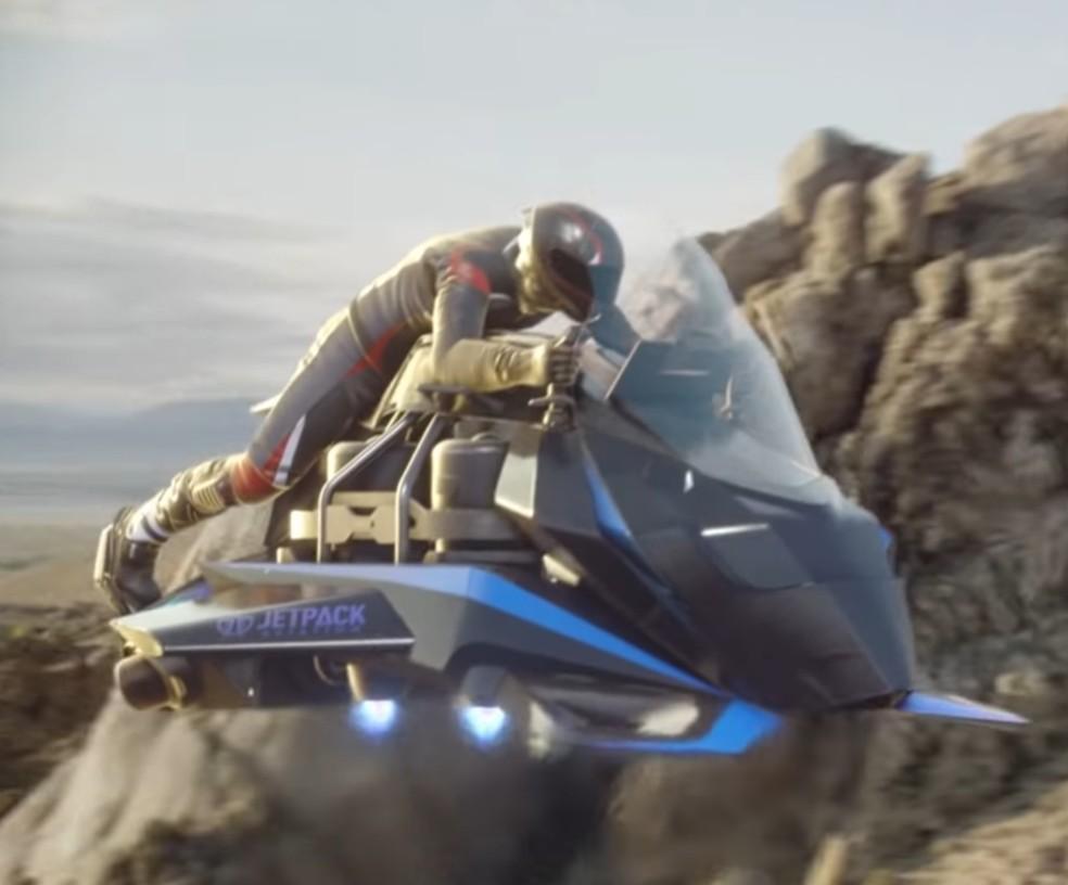 Moto voadora da Jetpack começa a ter pré-venda nos EUA por US$ 380 mil — Foto: Reprodução/Youtube
