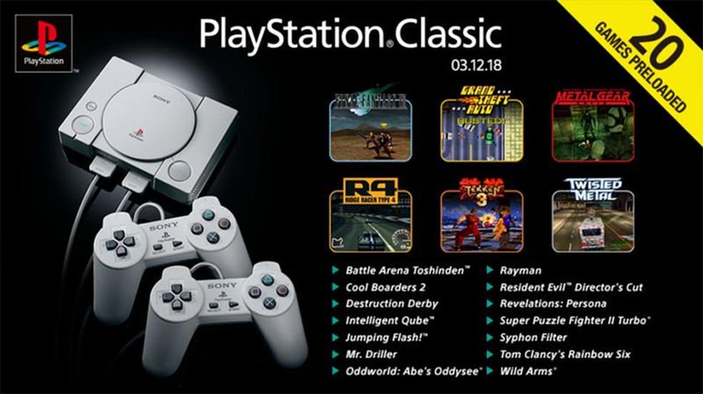 O PlayStation Classic permite reviver alguns desses momentos marcantes do PSOne, mas não tão bem quanto alguns jogadores gostariam — Foto: Reprodução/Not Only Videogames