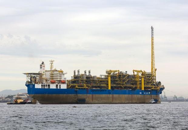Campo de Lula, o maior campo produtor de petróleo e gás natural do país produziu, em média, 872 mil diários de petróleo e 37,4 milhões de metros cúbicos de gás natural (Foto: Agência Petrobras/Douglas Enry)