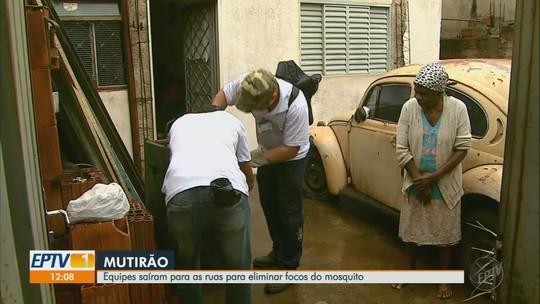 Chuva atrapalha ações da 4ª Campanha de Combate ao Mosquito Aedes aegypti nas regiões de Ribeirão Preto e Franca