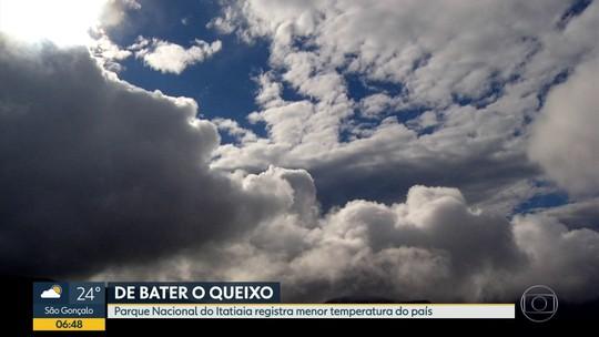 Parque Nacional de Itatiaia registra temperatura mais baixa do ano