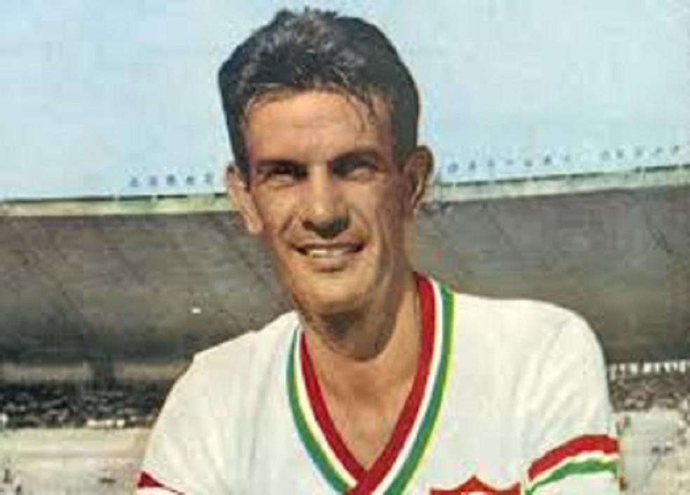 Telê em seus tempos de jogador, com a camisa do Fluminense — Foto: Reprodução