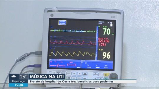 No Oeste de SC, médicos usam música para ajudar na recuperação de pacientes
