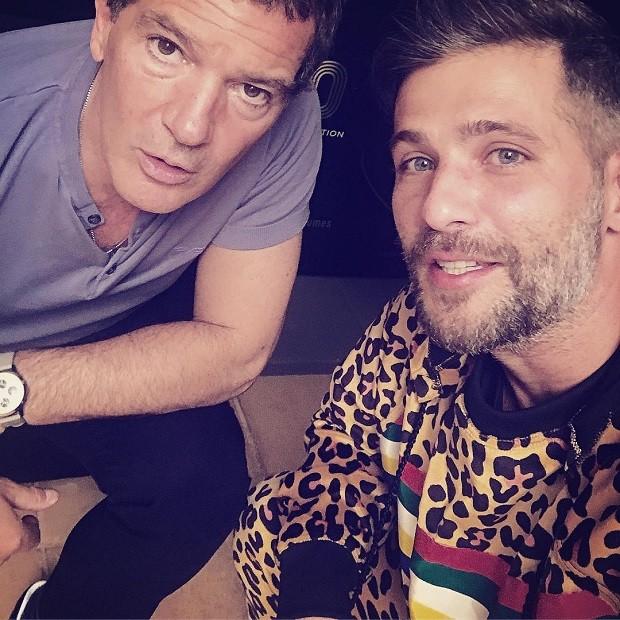Antonio Banderas e Bruno Gagliasso (Foto: Reprodução/Instagram)