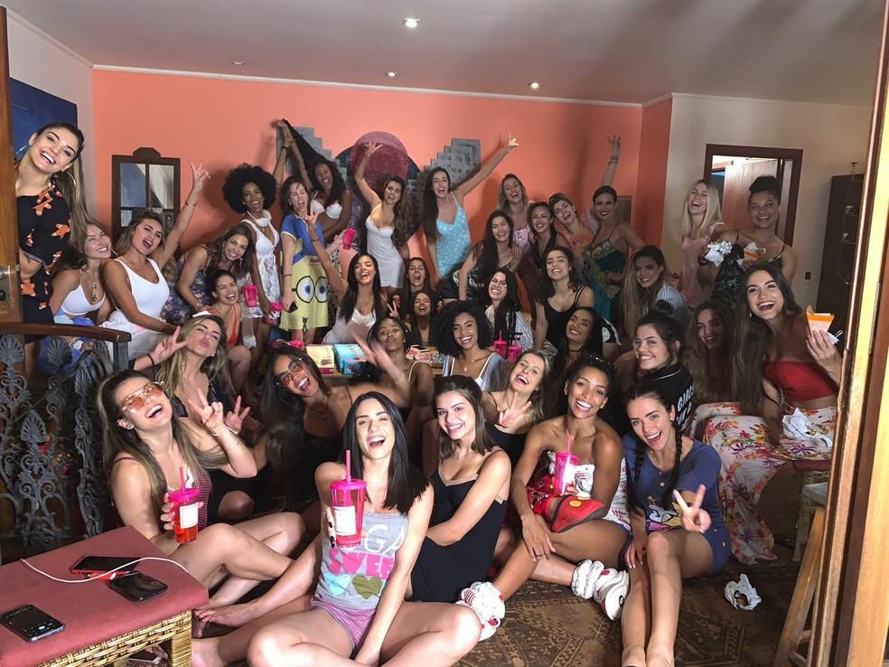 Bailarinas se reúnem para festa do pijama em São Paulo — Foto: Arquivo Pessoal