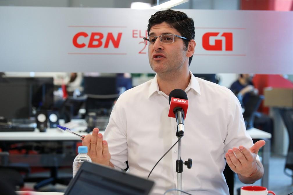 Rogerio Chequer é entrevistado pelo G1 e pela CBN — Foto: Marcelo Brandt/G1